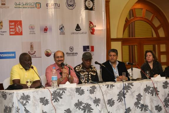 Press Conference with actor Danny Glover and director Flora Gomes