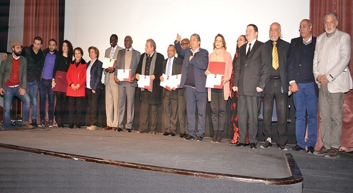 HEDI and Marabout at the 1st anniversary ceremony of African Cinema Club at the Artistic Creativity Center